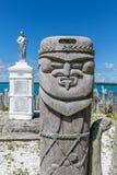 Primo piano del palo di totem al memoriale della st Maurice sui perni del DES di ÃŽle Immagine Stock Libera da Diritti