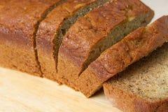 Primo piano del pane di banana Fotografie Stock