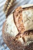 Primo piano del pane di lievito naturale del grano intero Immagini Stock Libere da Diritti