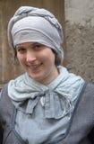 Primo piano del partecipante la festa in costume medievale Fotografia Stock Libera da Diritti