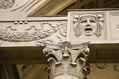 Primo piano del particolare di architettura di vecchia costruzione Immagini Stock Libere da Diritti