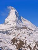 Primo piano del picco del Matterhorn Immagini Stock