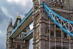 Primo piano del ponte della torre Immagine Stock Libera da Diritti