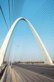 Primo piano del ponte strallato immagini stock libere da diritti