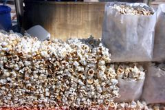Primo piano del popcorn Immagine Stock