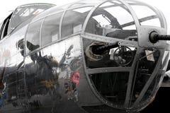 Primo piano del radiatore anteriore di B25 Mitchell fotografia stock