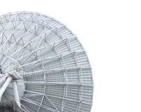 Primo piano del radiotelescopio Fotografia Stock