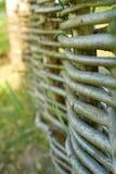 Primo piano del recinto tessuto frammento Fotografia Stock