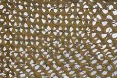 Primo piano del reticolato giallo del parasole fotografie stock libere da diritti