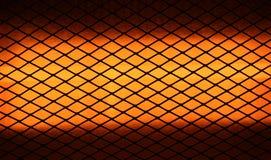 Primo piano del riscaldatore elettrico Fotografia Stock Libera da Diritti