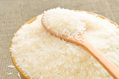 Primo piano del riso bianco del gelsomino Fotografia Stock