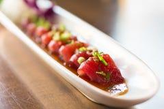 Primo piano del sashimi del tonno immagine stock libera da diritti