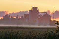Primo piano del silos di grano in bella cattiva ascia, Michigan Immagini Stock