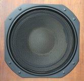 Primo piano del sistema di altoparlante rumoroso del Subwoofer Immagini Stock Libere da Diritti