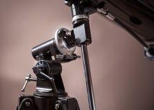 primo piano del supporto del telescopio Fotografia Stock Libera da Diritti