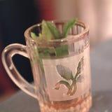 Primo piano del tè della menta fotografie stock