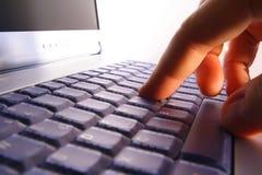 Primo piano del taccuino/computer portatile Fotografia Stock Libera da Diritti