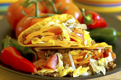 Primo piano del Tacos Immagini Stock