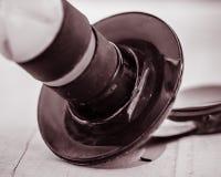 Primo piano del tappo del vino fotografia stock