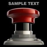 Primo piano del tasto rosso isolato Fotografie Stock