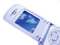 Primo piano del telefono della macchina fotografica Immagine Stock