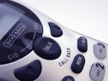 Primo piano del telefono senza cordone fotografie stock libere da diritti