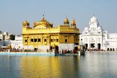 Primo piano del tempiale dorato, Amritsar Immagini Stock