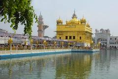 Primo piano del tempiale dorato Amritsar Punjab India Fotografia Stock Libera da Diritti