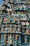Primo piano del tempiale indù in Trichy, India di Srirangam Immagine Stock