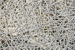 Primo piano del tessuto del rattan Fotografie Stock