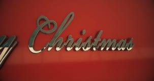 Primo piano del testo di Buon Natale stock footage