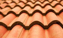 Primo piano del tetto di mattonelle Immagini Stock