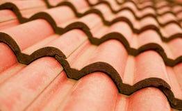 Primo piano del tetto di mattonelle Fotografia Stock Libera da Diritti