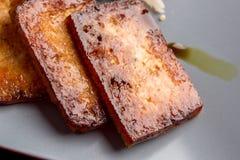 Primo piano del tofu marinato di appoggio Fotografia Stock