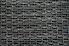 Primo piano del vimine di marrone del vinile Priorità bassa strutturata Fotografia Stock