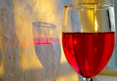 Primo piano del vino rosso Fotografie Stock Libere da Diritti
