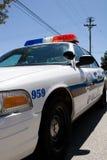 Primo piano del volante della polizia Immagini Stock