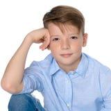 Primo piano dell'adolescente del ragazzo fotografia stock
