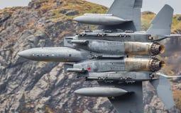 Primo piano dell'aereo da caccia F15 Immagini Stock Libere da Diritti