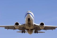 Primo piano dell'aeroplano Immagini Stock
