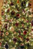 Primo piano dell'albero di Natale Immagini Stock