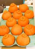 Primo piano dell'arancia del gruppo di freschezza nel Giappone Fotografie Stock
