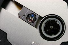 Primo piano dell'azionamento ottico del computer portatile Fotografia Stock Libera da Diritti