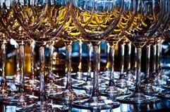 Primo piano dell'bicchieri di vino Fotografia Stock