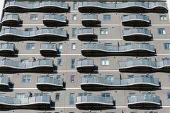 Primo piano dell'edificio residenziale Immagine Stock Libera da Diritti