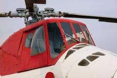 Primo piano dell'elicottero Fotografie Stock