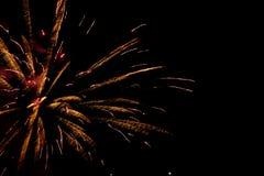 Primo piano dell'esposizione dei fuochi d'artificio Immagini Stock Libere da Diritti