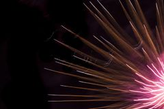 Primo piano dell'esposizione dei fuochi d'artificio Fotografie Stock
