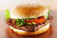 Primo piano dell'hamburger Fotografia Stock