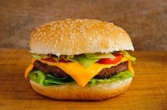 Primo piano dell'hamburger Fotografia Stock Libera da Diritti